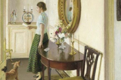 Harold Harvey, Wife Reading Letter