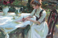 The Woman Writing in the Garden