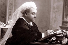 Queen Victoria writing