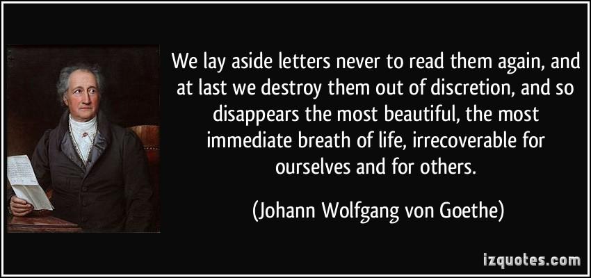 Goethe Letters destroy