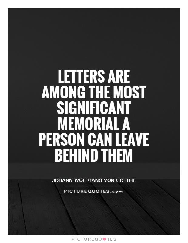Goethe Letters