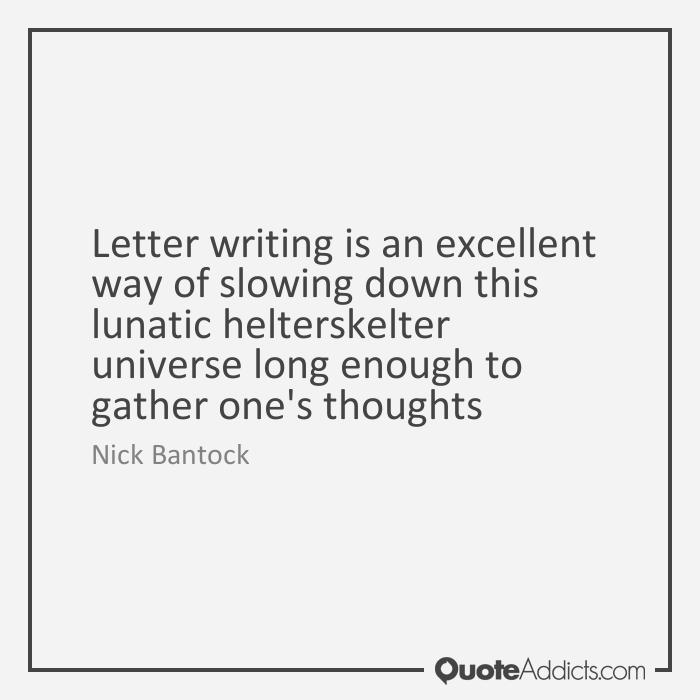 Letter Writing Nick Bantock