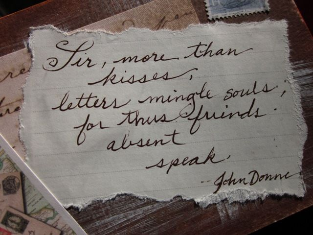 Letters John Donne