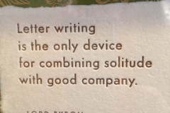 Letter writing Lord Byron