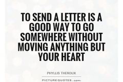Letter writing Phyllis Theroux